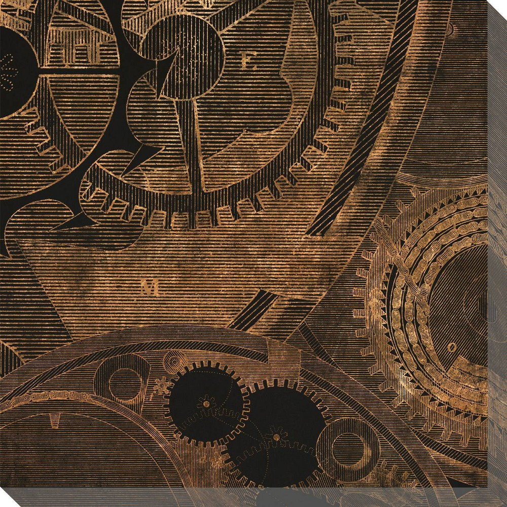 Image of Inner Workings 3 Unframed Wall Canvas Art - (24X24)