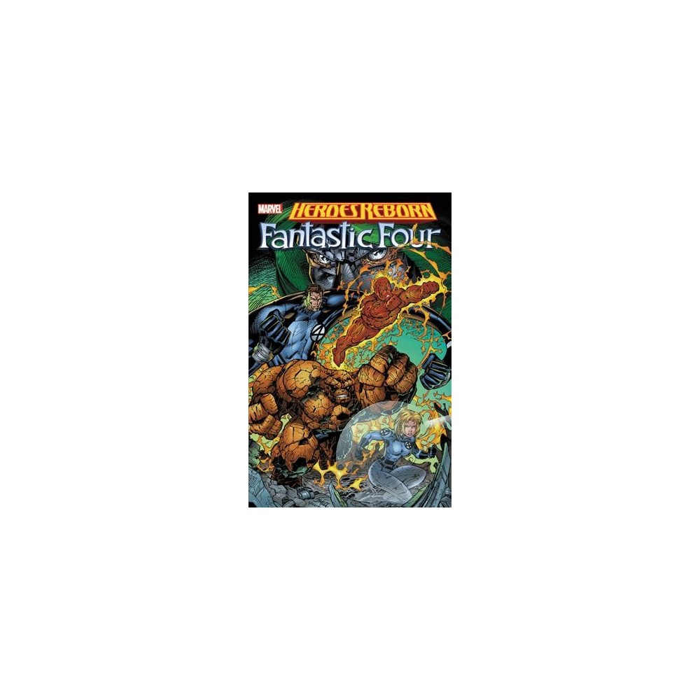 Heroes Reborn : Fantastic Four - by Jim Lee & Scott Lobdell & Brandon Choi (Paperback) In 1996, the hottest creators of the day - including Jim Lee, Rob Liefeld and Whilce Portacio - teamed up to reimagine and reinvigorate Marvel mainstays such as Captain America, Thor, Iron Man, the Avengers and the Fantastic Four. Seemingly killed off in the mainline Marvel Universe, the House of Ideas' most popular heroes were reborn with bold new looks on a brave new world, their origins re-envisioned with a raw vitality and contemporary sensibility. The Fantastic Four are Reborn, but it could be a short and unwonderful life as menaces emerge from the earth, the sea and Latveria! But even the Mole Man, Namor and Doom himself pale before the threat of Galactus and his Heralds (one fi nally just wasn't enough)! Featuring the Avengers, S.H.I.E.L.D. and more! Guest-starring Wolverine and Franklin Richards, Son of a Genius! Collecting: Fantastic Four #1-12