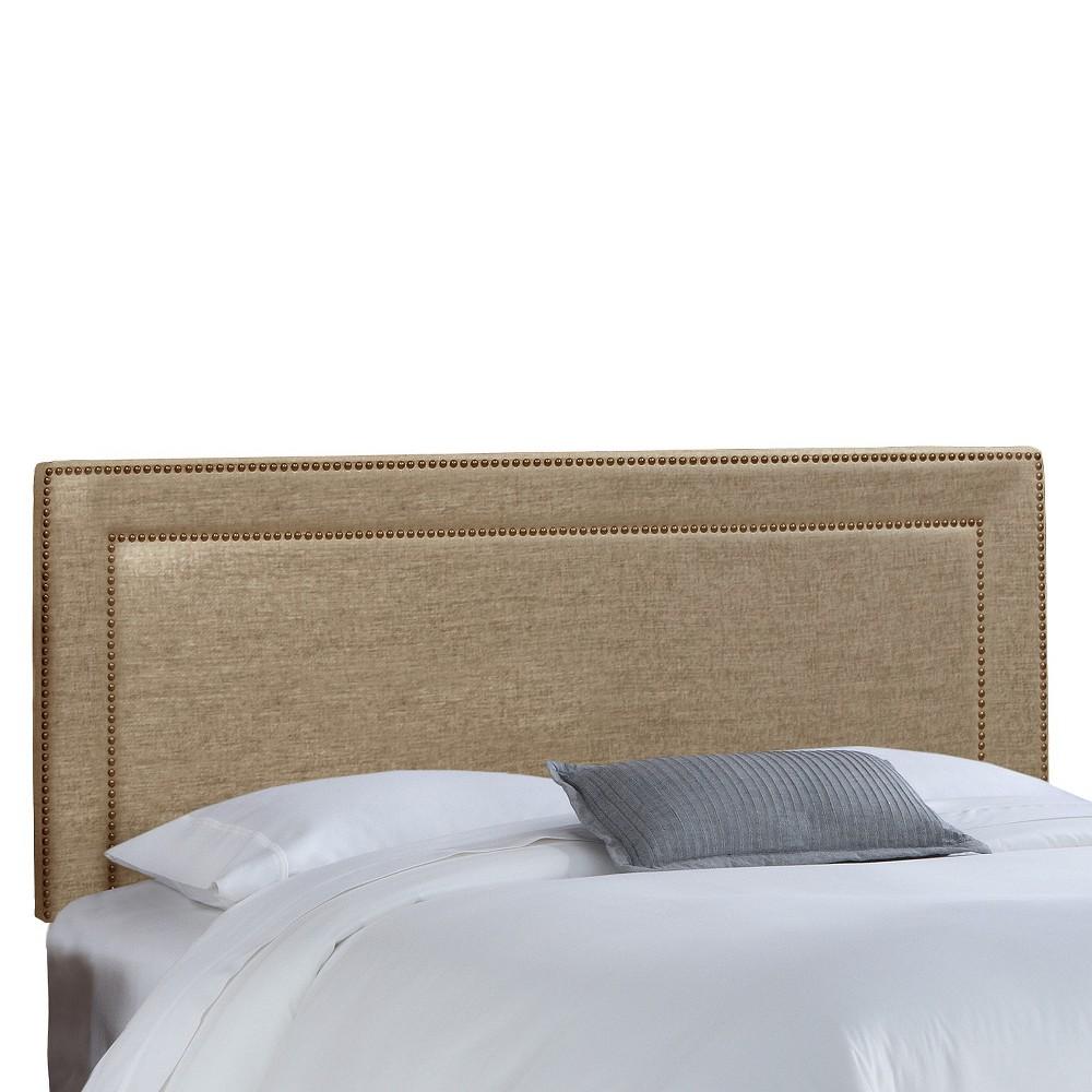 Full Fremont Nail Button Border Headboard Gunmetal (Grey) - Skyline Furniture