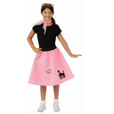 Underwraps Turquoise Satin Womens Adult Costume Poodle Skirt