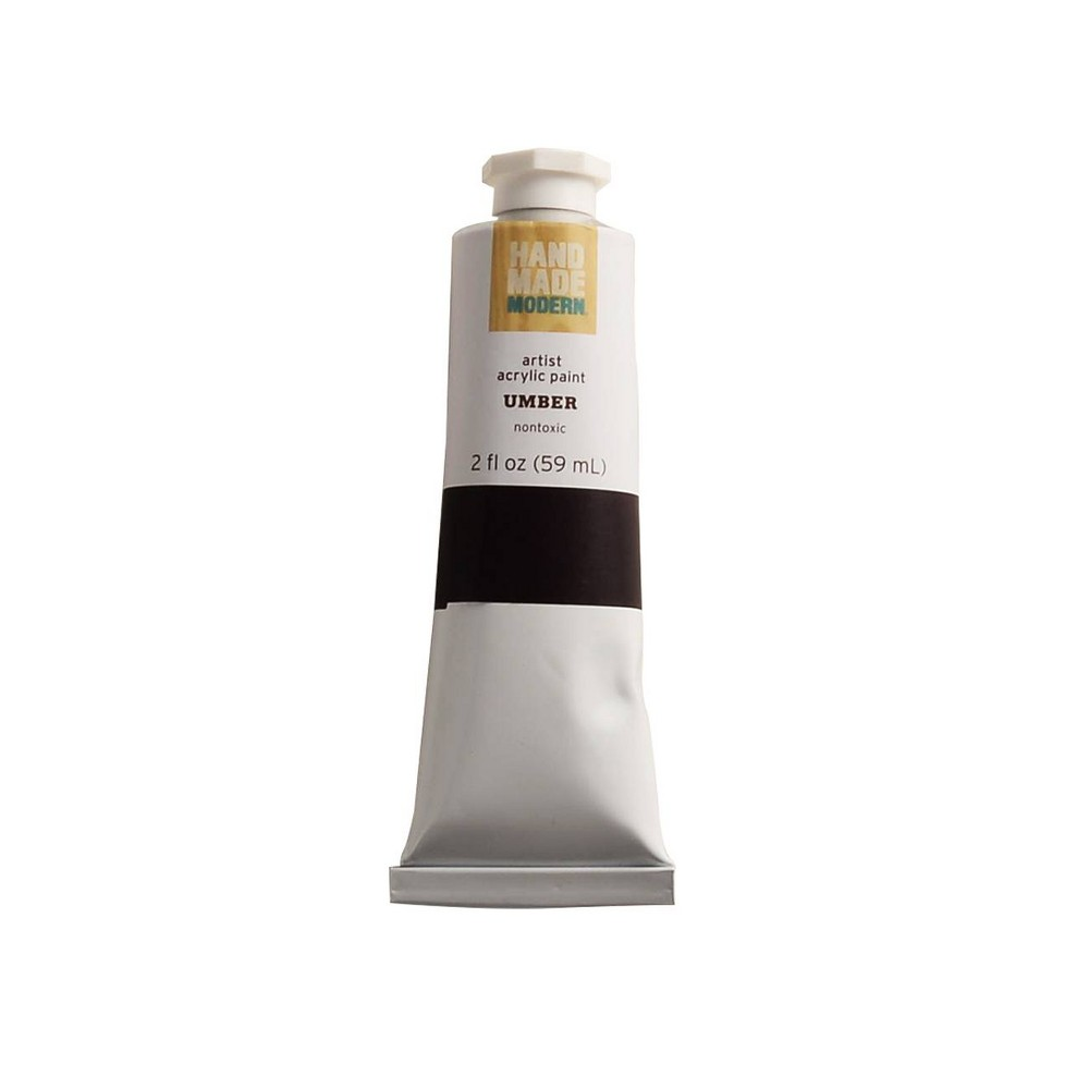 Image of 2 fl oz Acrylic Craft Paint - Hand Made Modern Umber Brown, Brown Brown