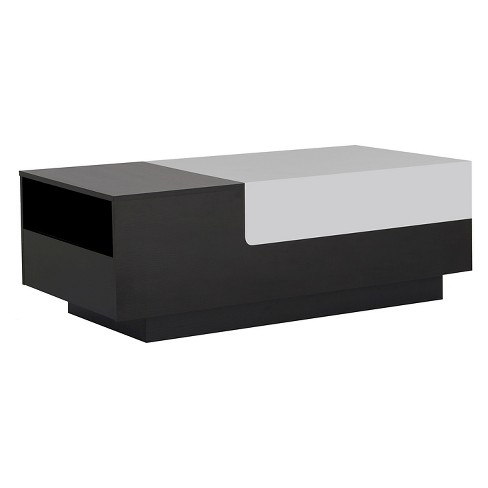 Cami Modern Two Tone Storage Coffee Table White Black Homes Inside Out