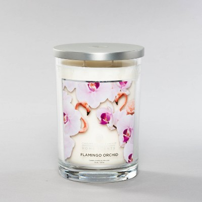 19oz Jar 2-Wick Flamingo Orchid Candle - Home Scents by Chesapeake Bay Candle