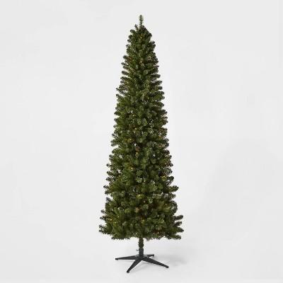 9ft Pre-lit Slim Alberta Spruce Artificial Christmas Tree Multicolored Lights - Wondershop™