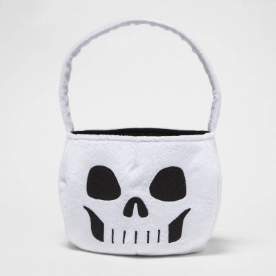 Plush Skeleton Pail Halloween Trick or Treat Container - Hyde & EEK! Boutique™