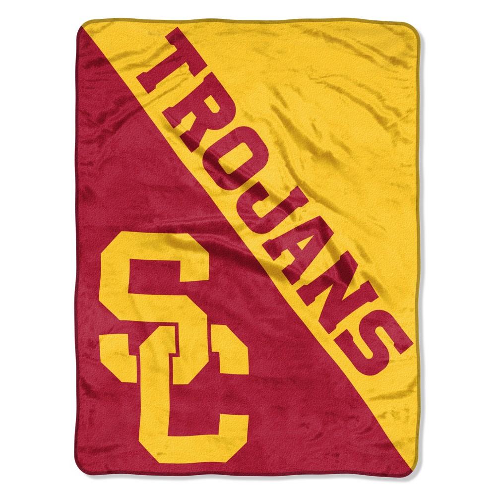 NCAA Usc Trojans Micro Fleece Throw Blanket