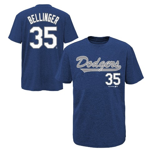 best loved 1d1a4 d3dda Los Angeles Dodgers Boys' Short Sleeve Crew Neck Cody Bellinger Jersey  T-Shirt - S