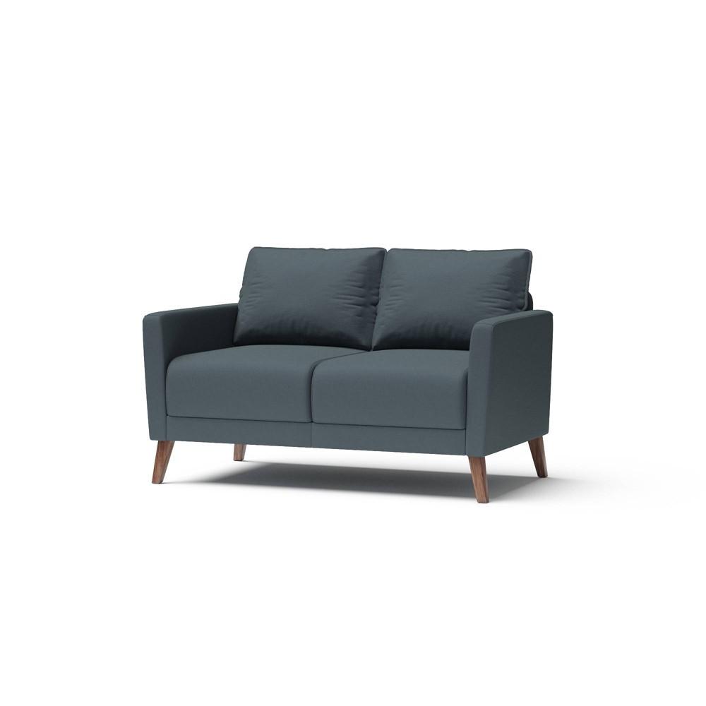 Derna Upholstered Loveseat Dark Gray Rst Brands