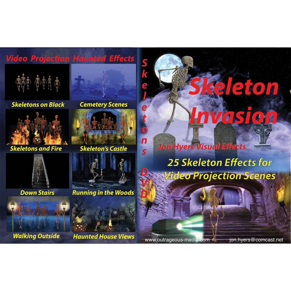 Image of DVD Skeleton Invasions Halloween Special Effects Light Accessories and Parts