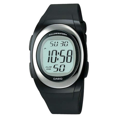 Men's Casio Digital Watch - Black (FE10-1A) - image 1 of 1