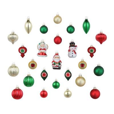 Mr. Christmas Vintage Glass Christmas Ornament Set - 26 Piece