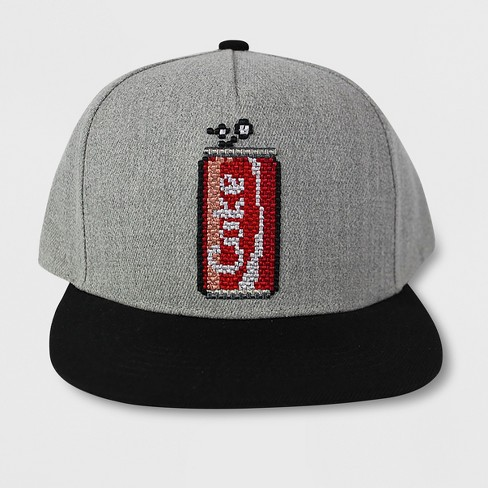 bf4db2ce6ac Men s Coca-Cola Embroidery Flat Brim Hat - Heather Gray One Size ...