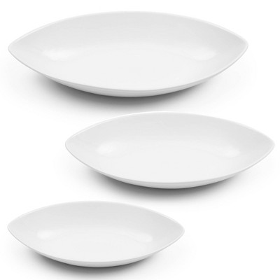 3pc Porcelain Serving Bowl Set White - Certified International