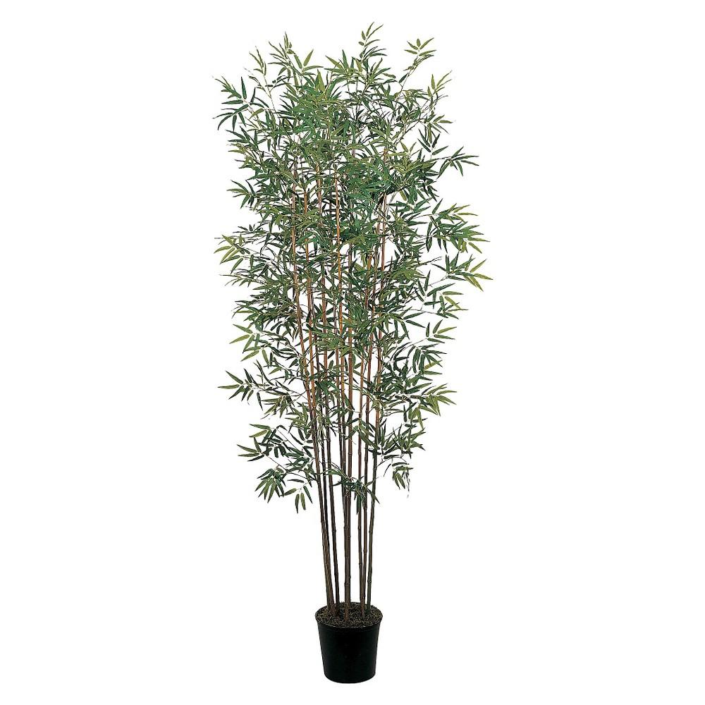 Nearly Natural 6' Mini Bamboo Silk Tree, Green