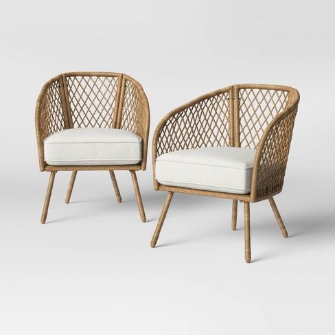 2pk Ayden Patio Club Chairs - Threshold™ - image 1 of 4