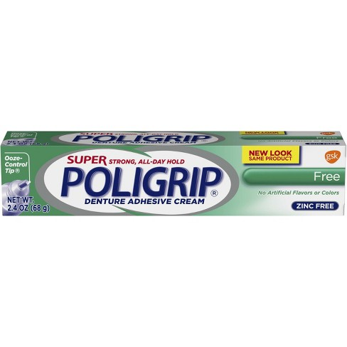 Poligrip Super Free Denture Adhesive Cream - 2.4oz - image 1 of 2
