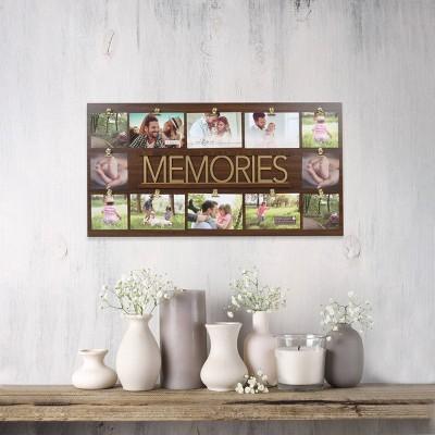 Metal Word Collage Memories Brown/Metallic Gold - New View