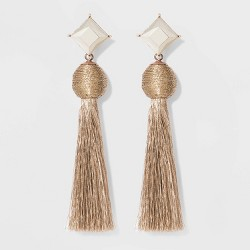 SUGARFIX by BaubleBar Crystal Studs Tassel Earrings
