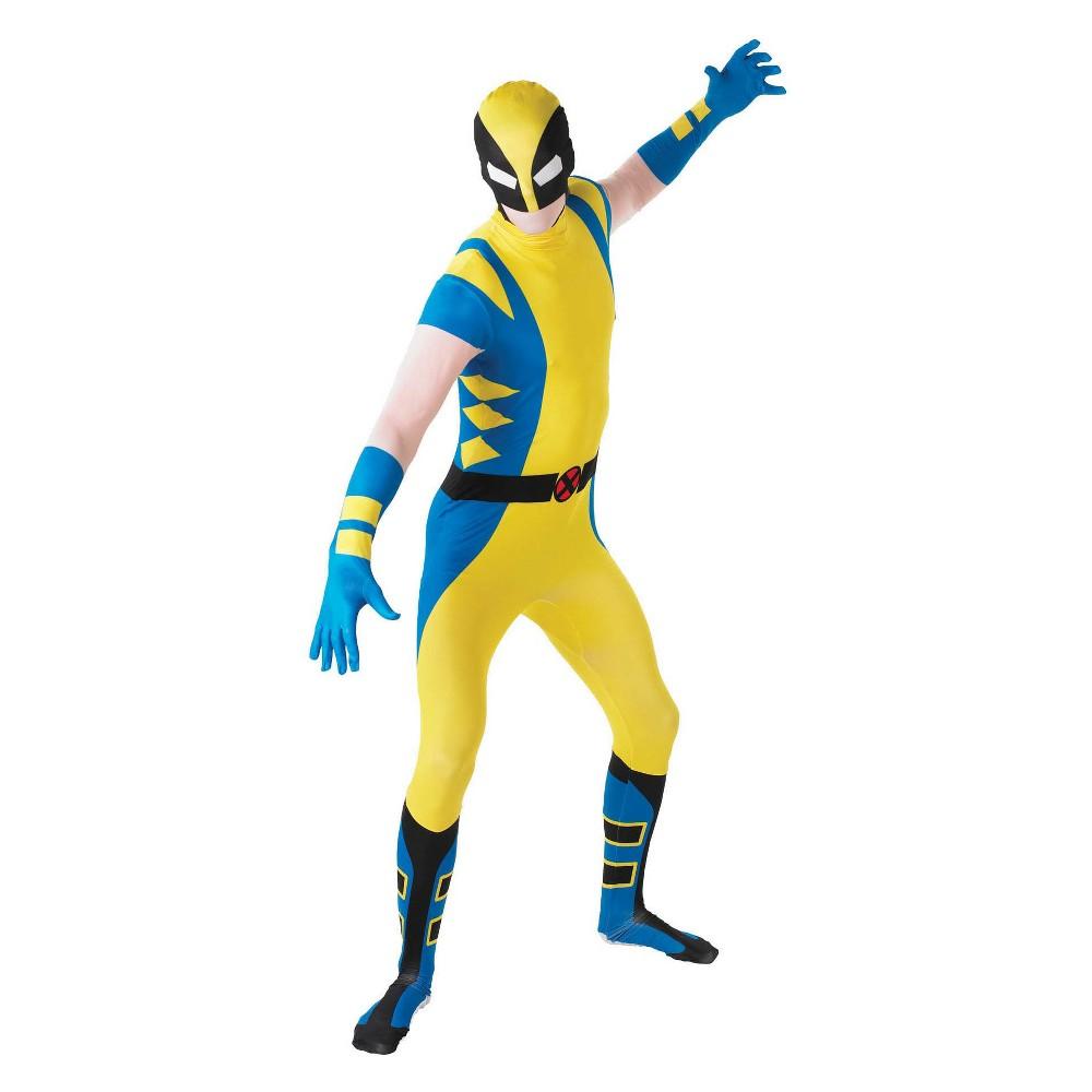 Men's Wolverine Second Skin Halloween Costume XL, Multicolored