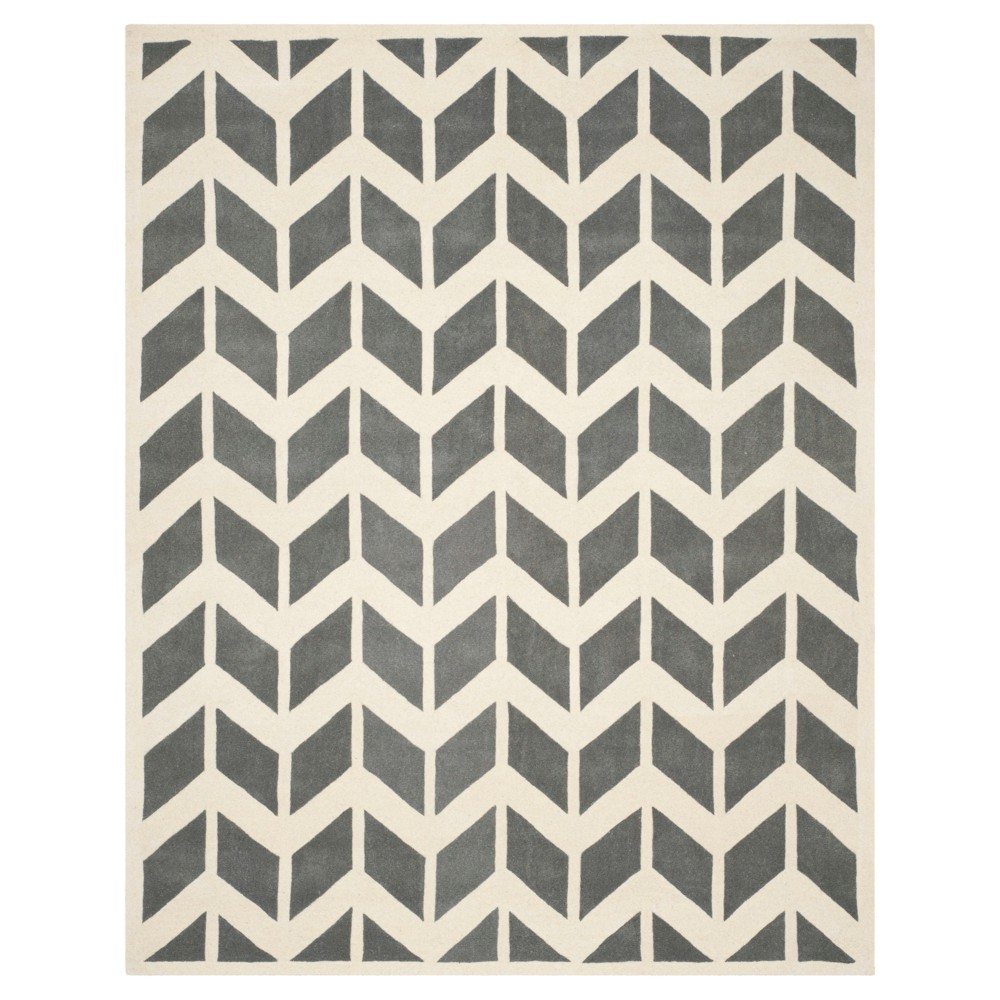 Dark Gray/Ivory Solid Tufted Area Rug - (8'9X12') - Safavieh