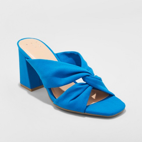 Women's Adina Block Heel Pumps - A New Day™ Blue - image 1 of 6