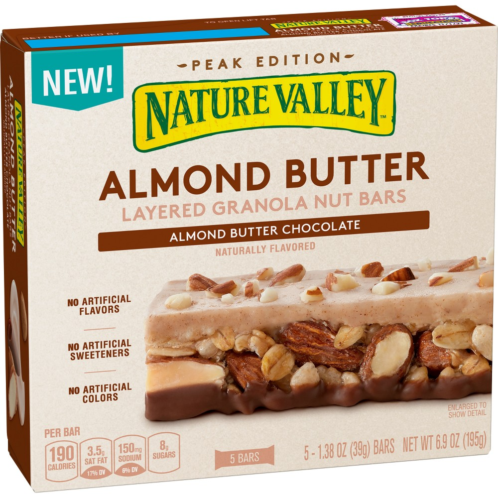 Nature Valley Almond Butter & Chocolate Layered Granola Nut Bars - 6.9oz