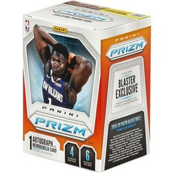 NBA Panini 2019-20 Prizm Basketball Trading Card BLASTER Box [6 Packs, 1 Autograph OR Memorabilia Card!]