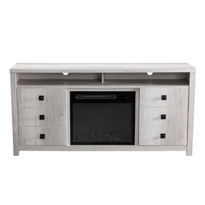"64"" TV Stand For TVs up to 70"" with Electric Fireplace Oak - Home Essentials"