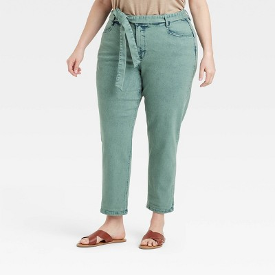 Women's Plus Size Mid-Rise Tapered Jeans - Ava & Viv™
