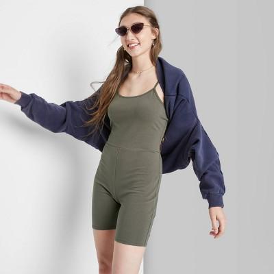 Women's Sleeveless Bike Short Bodysuit - Wild Fable™