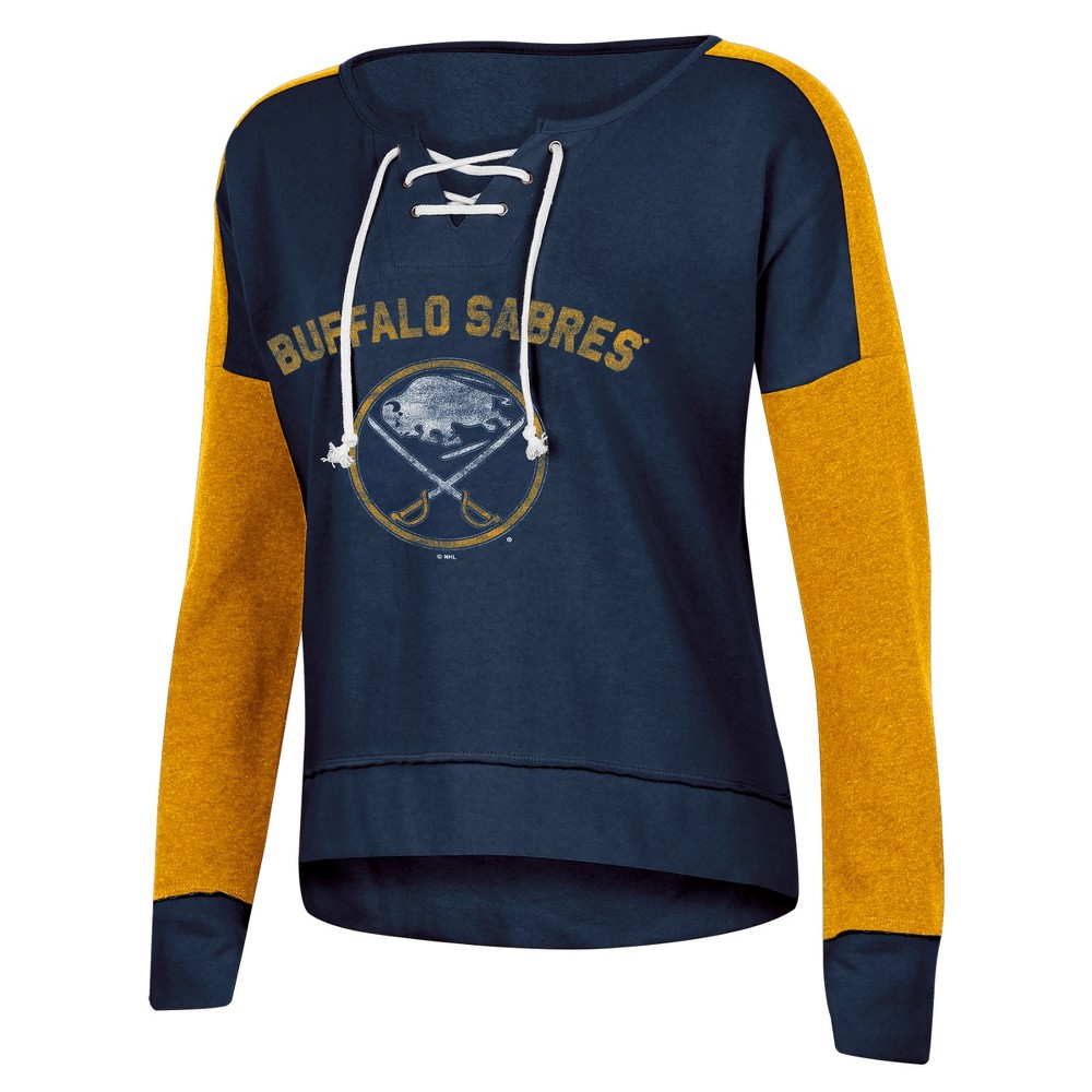 Buffalo Sabres Women's Warming House Open Neck Fleece Sweatshirt XL, Multicolored