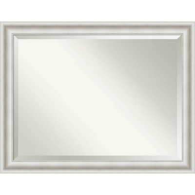 Parlor Framed Bathroom Vanity Wall Mirror White - Amanti Art