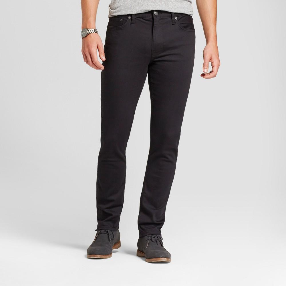 Men 39 S Skinny Fit Jeans Goodfellow 38 Co 8482 Black 40x32