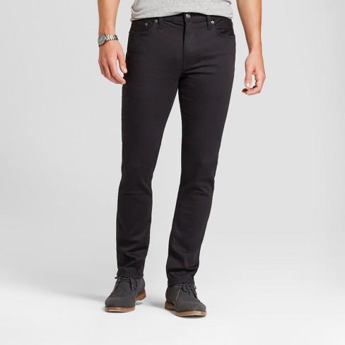 Men s Skinny Fit Jeans - Goodfellow   Co™ Black   Target e58d9319f