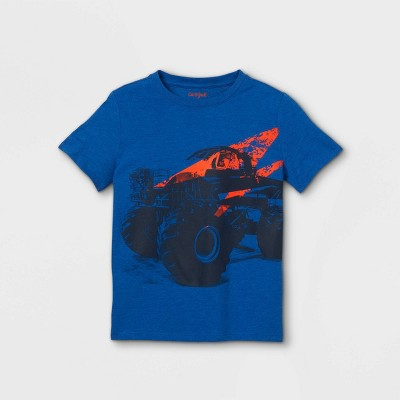 Boys' Monster Short Sleeve Graphic T-Shirt - Cat & Jack™ Bright Blue