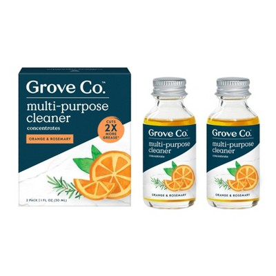 Grove Co. Multi-Purpose Cleaner Concentrates - Orange & Rosemary - 2pk