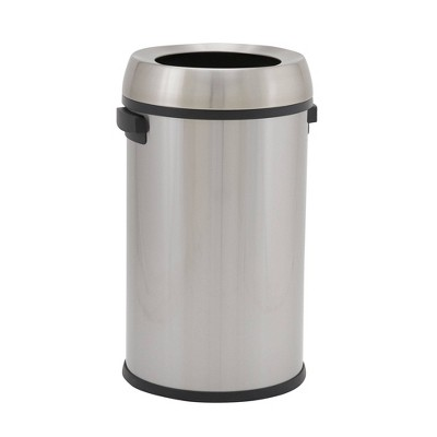 Household Essentials 65L Commercial Round Design Trend Trash Bin Stainless Steel