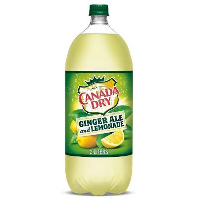 Canada Dry Ginger Ale Soda and Lemonade - 2 L Bottle