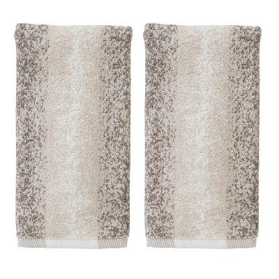 2pc Vern Yip Antelope Hand Towel Set Brown - SKL Home
