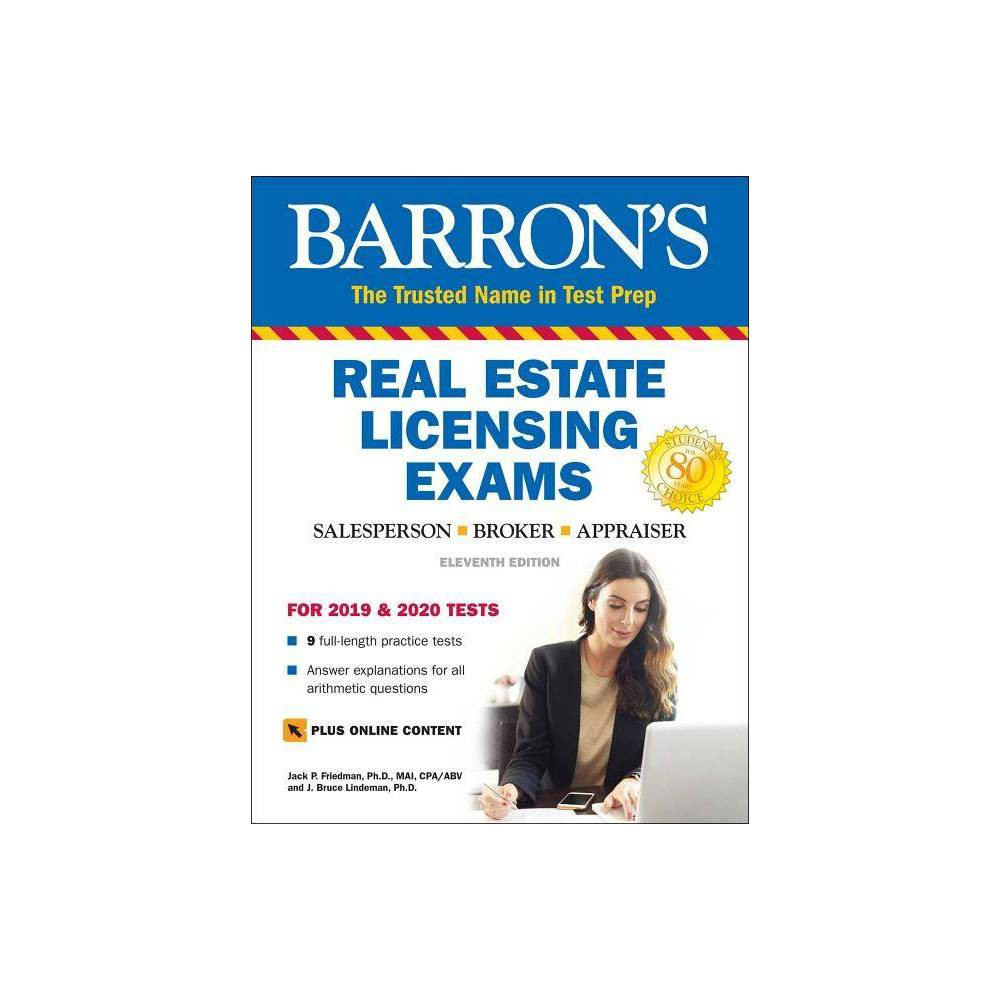 Image of Barron's Real Estate Licensing Exams with Online Digital Flashcards - (Barron's Test Prep) 11 Edition