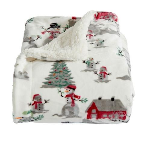 Home Fashion Designs Reversible Sherpa Velvet Plush Twin Blanket Winter Wonderland Target