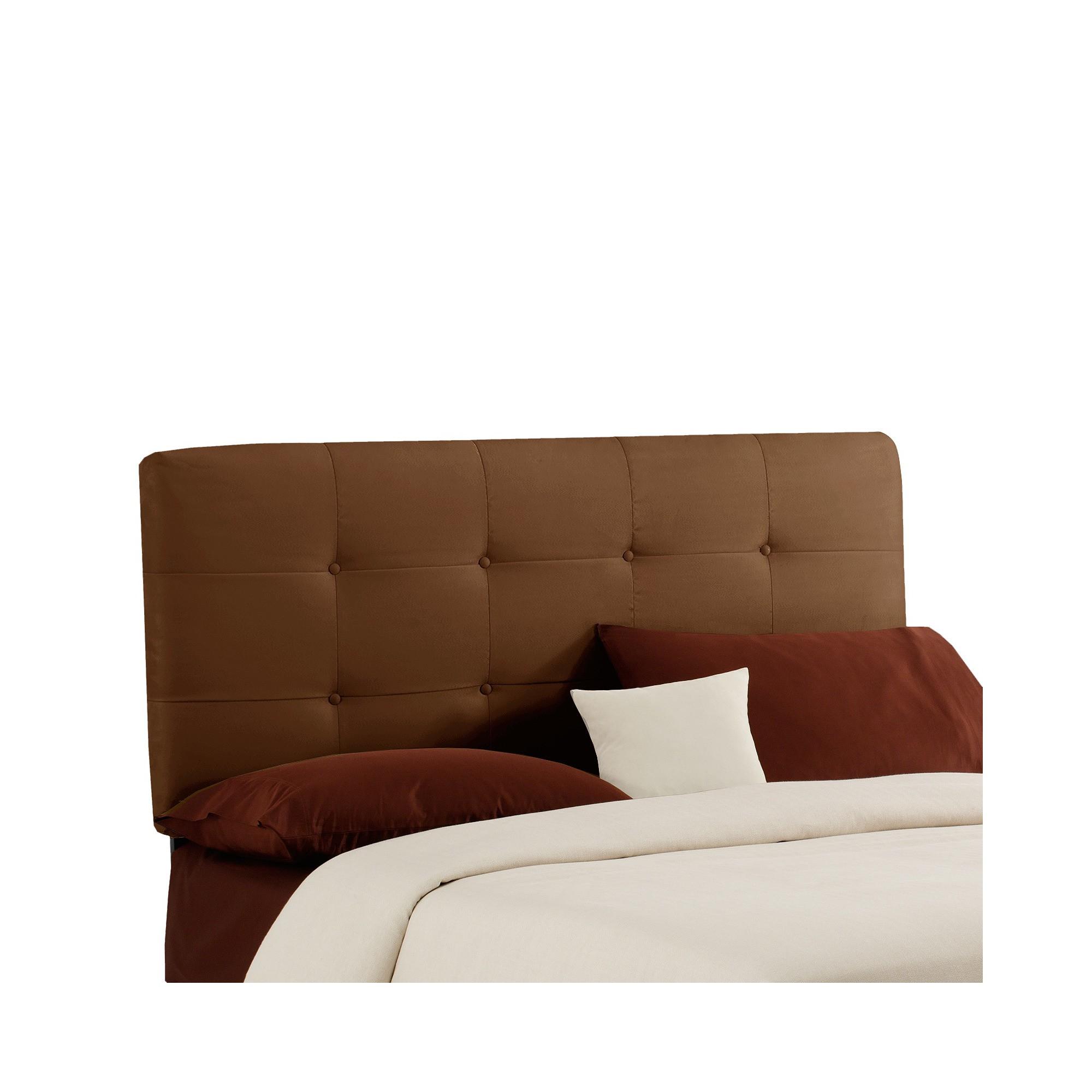 Dolce Microsuede Headboard - Premier Chocolate - Full - Skyline Furniture , Premier Brown