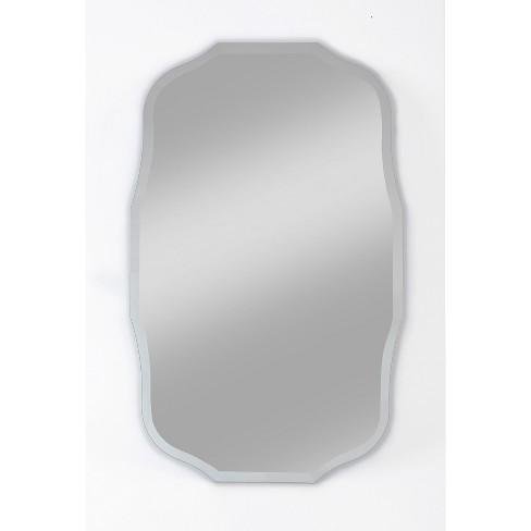 "15"" X 24"" Madison Frameless Decorative Beveled Glass Wall Mirror - Alpine Art and Mirror - image 1 of 4"