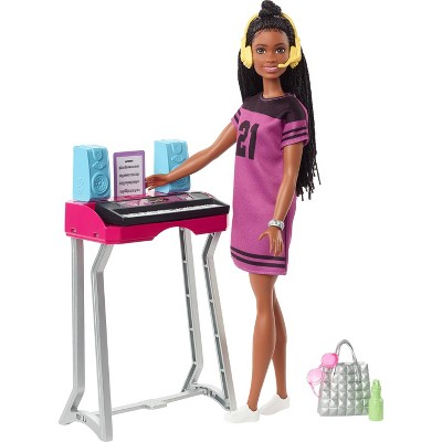 "Barbie: Big City, Big Dreams Barbie ""Brooklyn"" Roberts Doll  & Music Studio Playset"