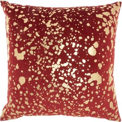 "18""x18"" Luminescence Metallic Splash Square Throw Pillow - Nourison"