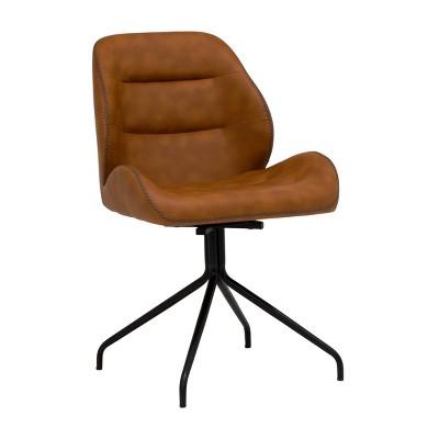 Devonport Swivel Office Chair Black/Copper - Calico Designs