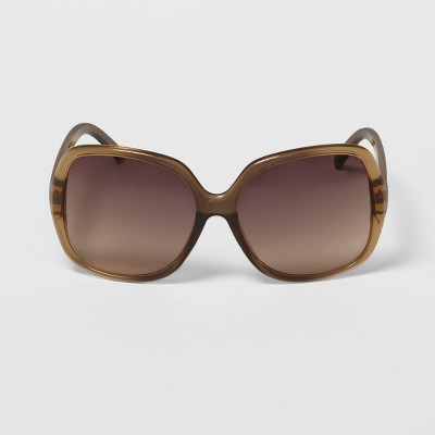 Women's Oversized Square Sunglasses - A New Day™ Beige