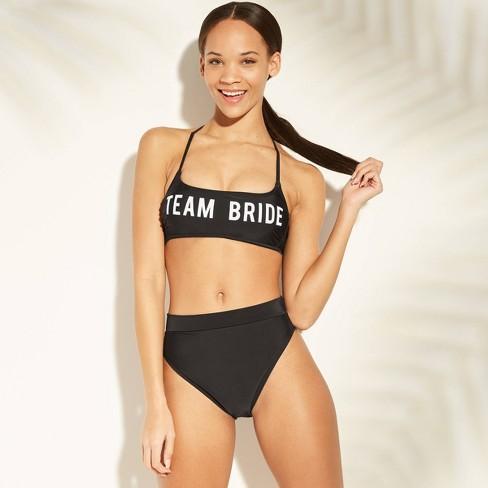 9e3f785437 Women s Team Bride Bralette Bikini Top - Xhilaration™ Black   Target