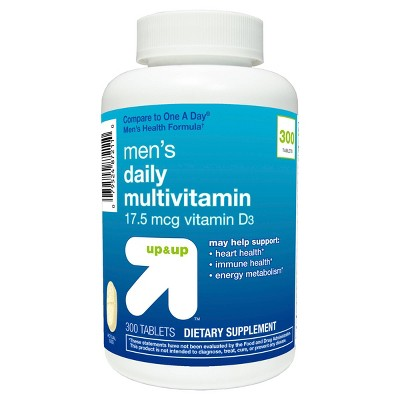Men's Daily Multivitamin Dietary Supplement Tablets - 300ct - up & up™