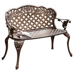 Cool Hummingbird Cast Aluminum Loveseat Bench Target Andrewgaddart Wooden Chair Designs For Living Room Andrewgaddartcom